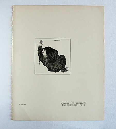 Aubrey Beardsley Antique Print - Alberich. To IllustrateDas Rheingold