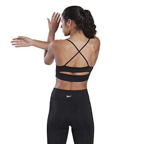 Reebok Workout Ready New Tri Backbra- Pad, Black, Small