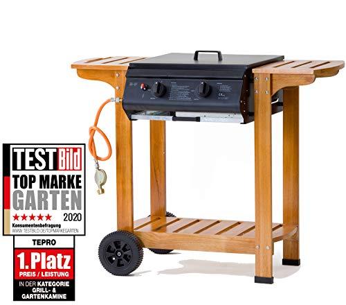 Tepro Gasgrill - Grillwagen mit Holzgestell Pittsburgh, Mehrfarbig