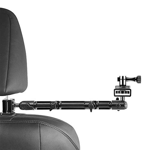 Tackform Headrest Mount for GoPro and Other Action Cameras,10.75 Inch