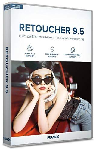 FRANZIS Retoucher 9.5|Einfach zu bedienen|Fotos perfekt retuschieren|incl. Photoshop Plug-in|für Windows und Mac|Disc|Disc