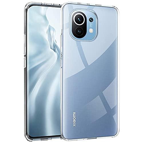 Verco Handyhülle für Xiaomi Mi 11 5G Hülle, Handy Cover für Xiaomi Mi 11 Hülle Transparent Dünn Klar Silikon, durchsichtig