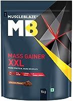 MuscleBlaze Mass Gainer XXL (Chocolate, 1 kg / 2.2 lb, 10 Servings)