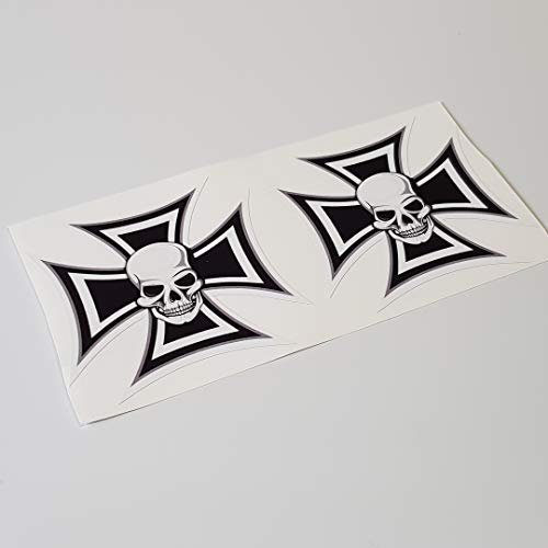 folien-zentrum Eisernes Kreuz Iron Cross Skull Totenkopf Shocker Hand Auto Aufkleber JDM Tuning OEM Dub Decal Stickerbomb Bombing Sticker Illest Dapper Fun Oldschool