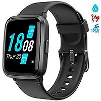 【Smartwatch multifunzionale】 : Lo smartwatch orologio ha un contatore di ossigeno nel sangue, monitor della pressione sanguigna, activity tracker (pedometro, distanza, calorie), cardiofrequenzimetro, salute delle donne, 9 modalità sportive, GPS condi...