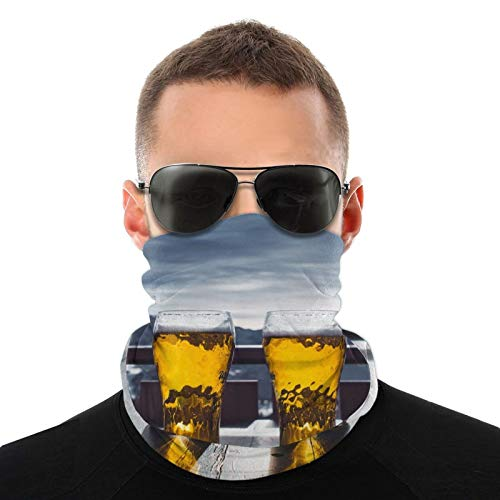 Face Bandana Mask, Beer Restaurant Mountains Breathable Scarf Reusable Neck Gaiter Balaclava Dust Sun Uv Protection Headband