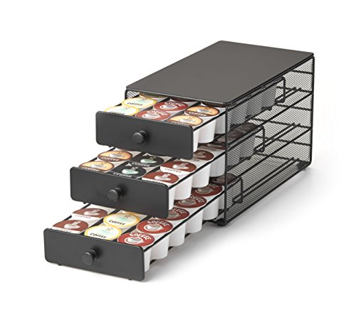 Nifty 3tier Large Capacity Coffee Pod Storage Drawer for KCup Pods 54 Pod Capacity only 7 inches wide