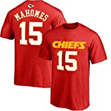 NFL Youth 8-20 Team Color Polyester Performance Mainliner Player Name and Number Jersey T-Shirt (X-Large 18/20, Patrick Mahomes Kansas City Chiefs Red)