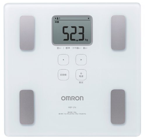 Omron HBF-214-W Electronic Personal Scale Plaza Blanco báscula baño - Báscula de baño (Báscula Personal electrónica, Plaza, Blanco, LCD, 285 mm, 280 mm)