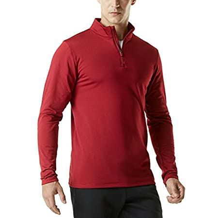 Fashion Shopping TSLA Men's Quarter Zip Thermal Pullover Shirts, Winter