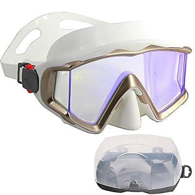 AQUA A DIVE SPORTS Scuba Snorkeling Dive Mask for Scuba Diving Snorkeling Free Diving (PC Lens White)