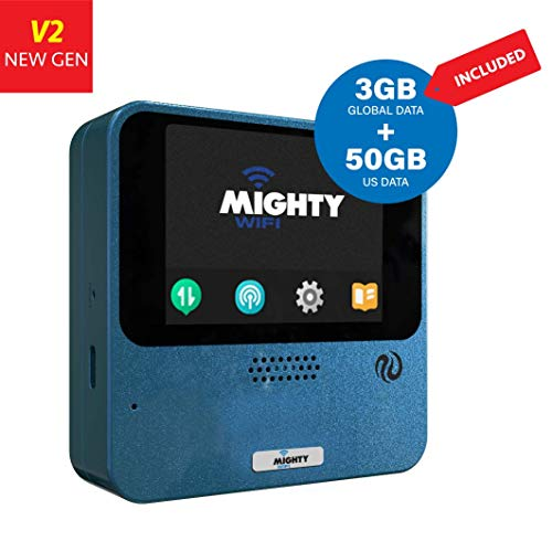 MightyWifi Cloud Worldwide high Speed Hotspot with US 50GB & Global 3GB Data for 30 Days, Pocket...