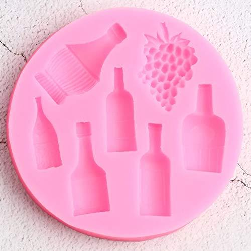 TIANDI Molde de Silicona para Botella de Vino, florero, decoración para Tartas, Fondant, decoración para Tartas, Chocolate, Caramelo, Molde para Dulces