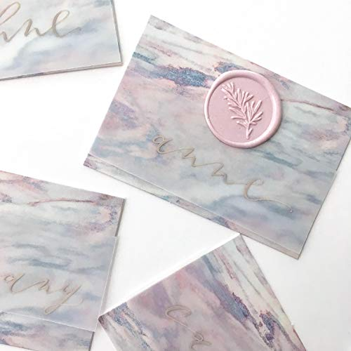 UNIQOOO Mailable Glue Gun Sealing Wax Sticks for Wax Seal Stamp - Pastel Sakura Pink, Great for Wedding Invitations, Cards Envelopes, Snail Mails, Wine Packages, Gift Ideas, Pack of 8