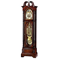 Howard Miller LUU Floor Clock 547-029 – Windsor Cherry Grandfather Vertical Home Decor with Cable-Drive Triple-Chime Concerto Movement