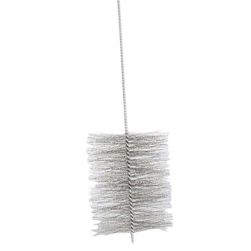Kamino-Flam Ofenrohrbürste 333270, aus robustem Stahldraht, für den Rechtslauf gedrehte Kaminbürste, für den Innen- und Außenbereich, selbst Biegungen sind mit der Bürste gut zu säubern, die Bürste ist auch im Sanitärbereich einsetzbar, ca. Ø 16 x 150 cm