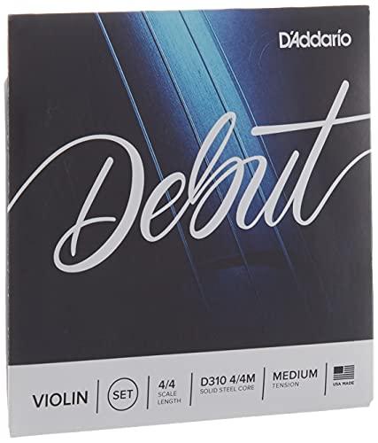 Encordoamento Para Violino Tensão Média D'Addario Bowed Debut D310 4/4M