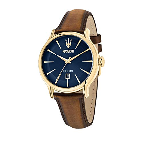 Maserati Reloj Hombre, Colección EPOCA, Cuarzo, Tiempo y Fecha, en Acero, Cuero - R8851118012