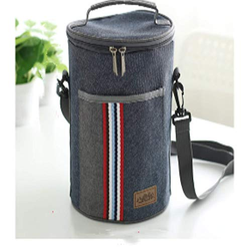 Insulated Lunch Bag, Pu Mirror Leather Portable Leakproof Food Drink Lunch Bag,17.5x27.5cm