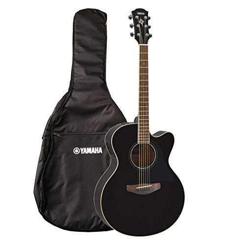 YAMAHA Black CPX600 Steel Electroacoustic Guitar