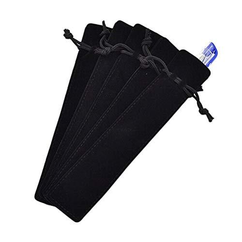 Fliyeong - Estuche para lápices (5 unidades, terciopelo), color negro