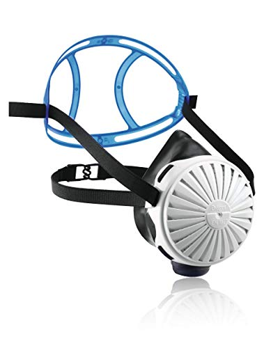Dräger X-plore 2100 Set - Mehrweg-Atemschutzmaske aus EPDM + 5X FM P3 Filter | Universalgröße | Für giftige Stäube/Rauch/Aerosole