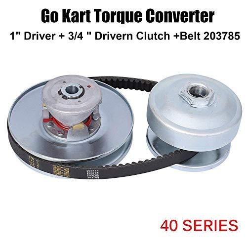 BLACKHORSE-RACING 40 Series 1' BORE GO Kart CVT Torque Converter Driver Clutch FIT Comet 40/44 + 3/4'' Driven Clutch Comet Kit + Belt 203785