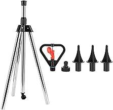 Yosoo 360 Degree Rotating Lawn Sprinkler Adjustable Tripod Water Sprinkler Garden Lawn Irrigation Tool