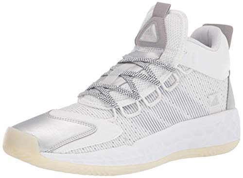 adidas Unisex Coll3Ctiv3 2020 Mid Basketball Shoe, White/Silver/Chalk White, 8.5 US Men