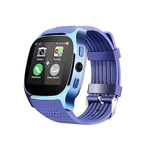 HX0945 Bluetooth Smartwatch T8 met camera simkaart Facebook WhatsApp ondersteunt TF Call Sport Smartwatch voor Android PK Q18 DZ09, blauw
