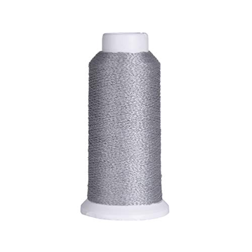 Kesheng 1000M Polyester Spools Reflective Nylon Sewing Embroidery Thread Roll Compatible to Sewing Machines for Hat Clothes Artcraft Making