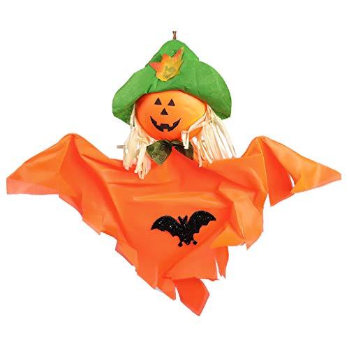 catyrre Halloween Ghost Pumpkin Scarecrow Windsock Doll Hängende Anhänger für Home Front Yard Patio Lawn Garden Decor, Halloween Haunted House Party Dekorationen