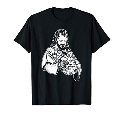 Atheist Jesus liebt Satan Baphomet Ziege T-Shirt