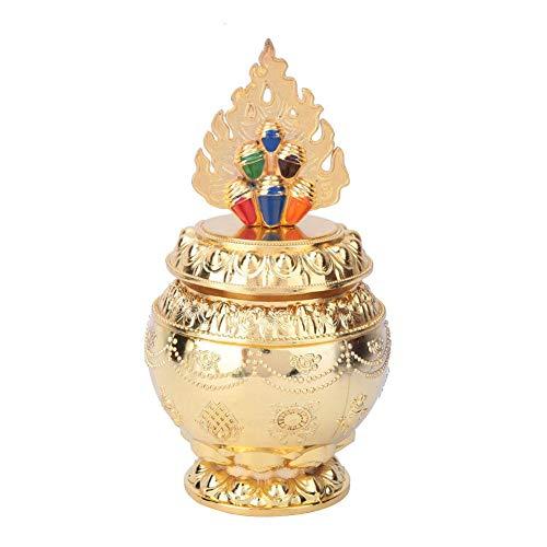 Tibetaanse koper legering fles, schadelijke verzamelen schat fles boeddhistische benodigdheden huis decoratie