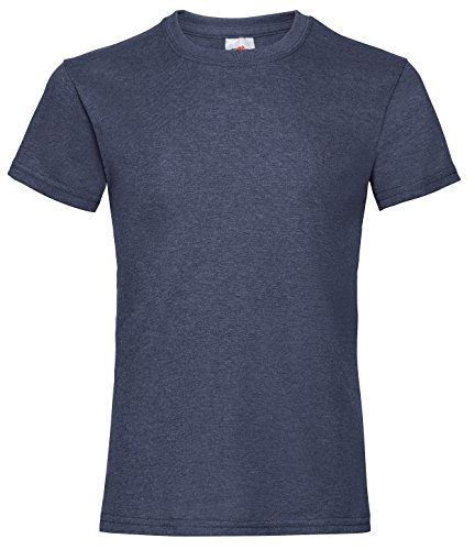 Fruit of the Loom Valueweight T-Shirt, blau, 7-8 Jahre