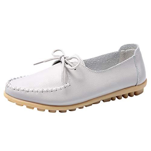 Xuthuly Frauen Freizeit Bequeme Flache Schuhe Kurze Reine Farbe Outdoor Einzelnen Schuhe Klassische Bowknot Peas Bootsschuhe