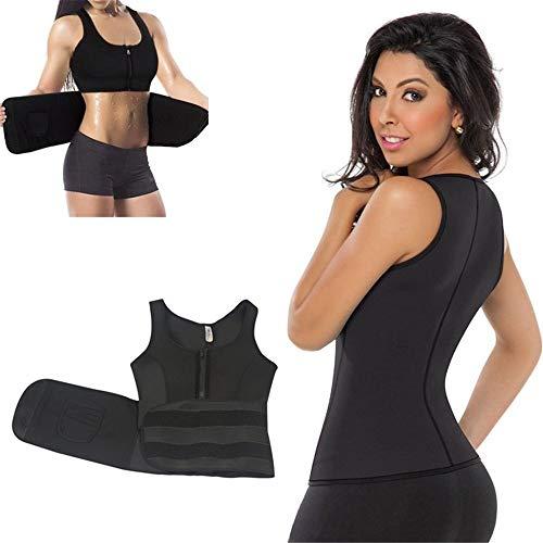 Heqianqian - Cinturón de entrenamiento de cintura de plástico para moldear el cuerpo, chaleco de goma, corsé deportivo, cintura delgada, cinturón abdominal para mujer, nailon, Rosa, Small