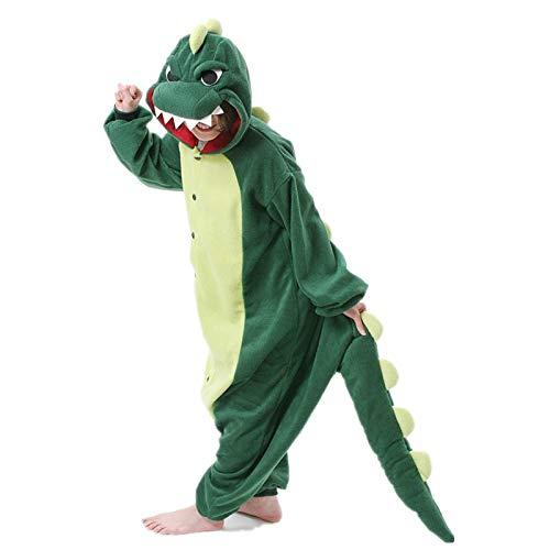 MMTX Unisex Onesies di Dinosauro Costumi Pigiama, Flanella Carattere Animale Pigiami da Notte Felpa con Cappuccio, Fancy Dress Up