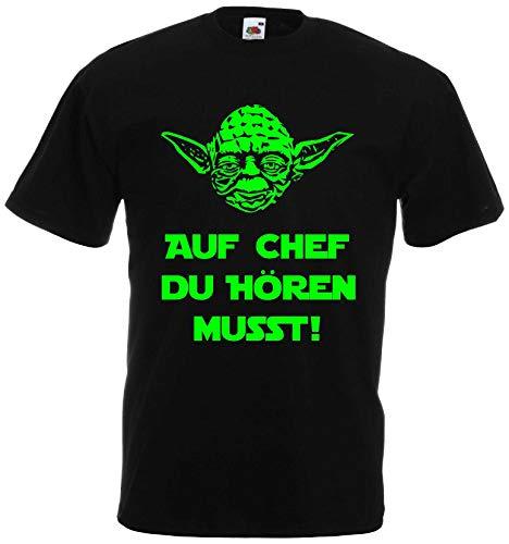 Master Yoda Herren T-Shirt Star Wars Spruch Chef hören du musst !