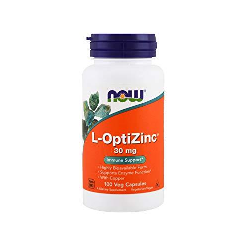 Zinco Otimizado 30mg + Cobre (100 cápsulas veganas) Now Foods