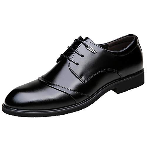 Zapatos Formales para Hombre, clásico, Elegante, Ligero, Derbys, Color sólido, Patchwork, Comodidad empresarial, Zapatos clásicos de Cuero de Corte bajo con Cordones
