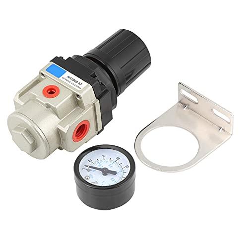 YJZO Regulador de presión Valve-1pc 1Mpa Manómetro de presión de Alta presión Regulador neumático de Aire G3/8 Rosca con Soporte