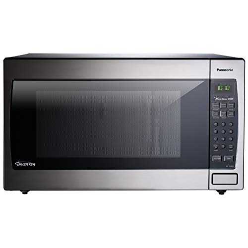 Panasonic Microwave Oven NN-SN966S Stainless Steel Countertop/Built-In with Inverter Technology and Genius Sensor, 2.2 Cu. Ft, 1250W