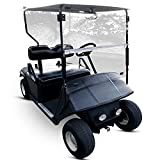 ECOTRIC Clear Windshield Compatible with EZGO TXT & Medalist 1994-2014   39.5' W x 34' H Folding Down Clear Windshield Compatible with EZGO TXT & Medalist Models Gas or Electric Golf Cart (1994-2014)