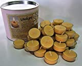 100% Pure Beeswax Tea Light Candles, 42 Nos. Each of 14 Grams Pure