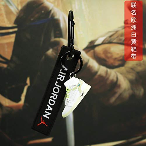 JSLW Aj1 Schlüsselbund Mini-Basketballschuh Modell handgemachte Trendige Rucksack Anhänger Auto Schlüsselbund Kette Geschenke für Männer und Frauen 3