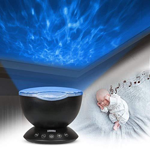 Junkai Ocean Wave Projector - Lampe de projecteur sous-Marin - Lecteur de Musique - Projecteur de lumière de Nuit pour bébé Enfants Adultes Chambre Salon Décoration