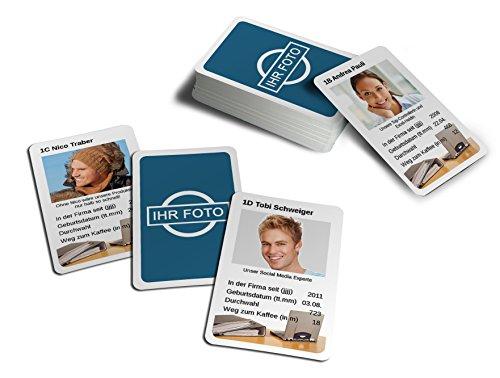 MEINSPIEL Foto-Quartett - Individuelle Quartettkarten mit eigenen Fotos Bedrucken / Kartenspiel für die ganze Familie / Auto-Quartett / Hochzeits-Quartett / Kollegen-Quartett / Quartettspiel