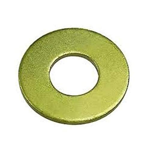 Steel Flat Washer, Zinc Yellow Chromate Plated Finish, Grade 8, ASME B18.22.1, 5/16