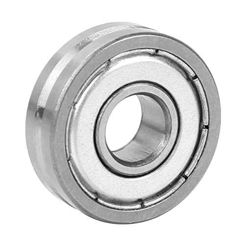 Rodamiento de ranura en V - 1 Uds V608/23 Rodamientos de bolas de rueda de guía con ranura en V de 90 ° para enderezadora de máquina de resorte 8 * 23 * 7 mm